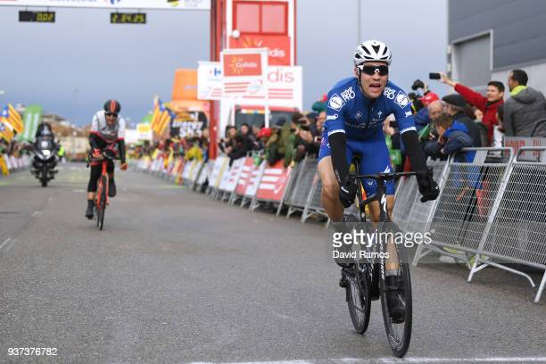 Arrival / Maximilian Schachmann of Germany and Team Quick-Step Floors / Celebration / Diego Rubio of Spain and Team Burgos BH / Public / Fans /...