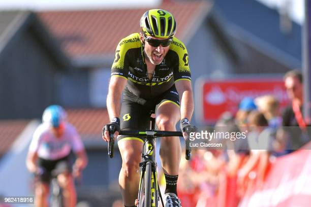 Arrival / Michael Albasini of Switzerland and Team MitcheltonScott / Celebration / during 2nd Velon Hammer Series 2018 Stage 1 a 792km stage from...