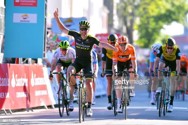 Arrival / Michael Albasini of Switzerland and Team MitcheltonScott / Celebration / Pim Ligthart of The Netherlands and Team RoompotNederlandse...