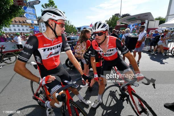 Arrival / Michael Gogl of Austria and Team TrekSegafredo / John Degenkolb of Germany and Team TrekSegafredo / during the 83rd Tour of Switzerland...