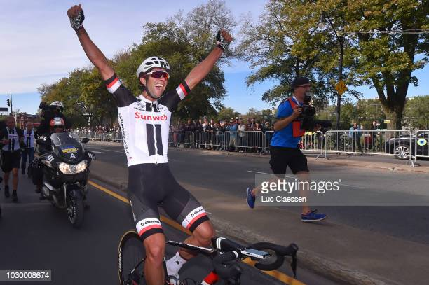 Arrival / Michael Matthews of Australia and Team Sunweb / Celebration / during the 9th Grand Prix Cycliste de Montreal 2018 a 195,2km race from...