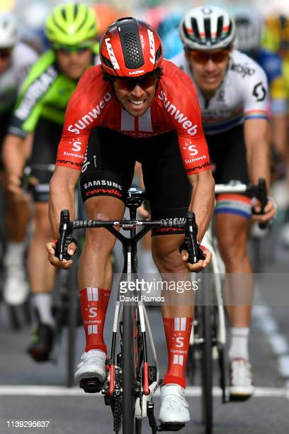 Arrival / Michael Matthews of Australia and Team Sunweb / Celebration / during the 99th Volta Ciclista a Catalunya 2019, Stage 6 a 169,1km stage from...