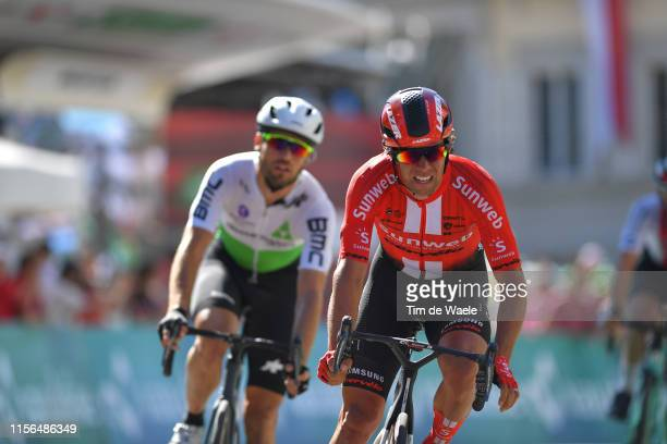 Arrival / Michael Matthews of Australia and Team Sunweb / during the 83rd Tour of Switzerland Stage 3 a 1623km stage from Flamatt to Murten 448m /...