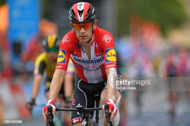 Arrival / Michael Mørkøv of Denmark and Deceuninck - Quick-Step Team / during the 21st Santos Tour Down Under 2019, Stage 2 a 122,1km stage from...