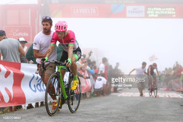 Arrival / Michael Woods of Canada and Team EF Education First - Drapac P/B Cannondale / during the 73rd Tour of Spain 2018, Stage 17 a 157km stage...
