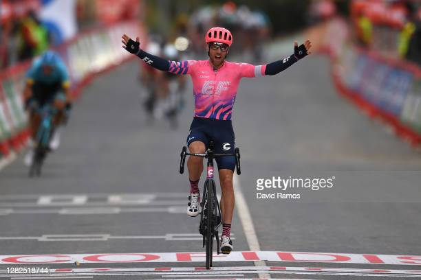 Arrival / Michael Woods of Canada and Team EF Pro Cycling / Celebration / during the 75th Tour of Spain 2020, Stage 7 a 159,7km from Vitoria-Gasteiz...