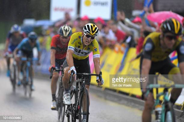 Arrival / Michal Kwiatkowski of Poland and Team Sky Yellow Leader Jersey / during the 75th Tour of Poland 2018, Stage 7 a 136,6km stage from Bukovina...