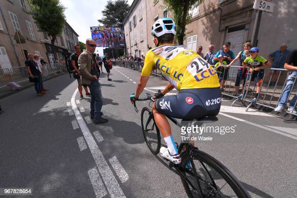 Arrival / Michal Kwiatkowski of Poland and Team Sky Yellow Leaders Jersey / Injury / Crash / during the 70th Criterium du Dauphine 2018 Stage 2 a...