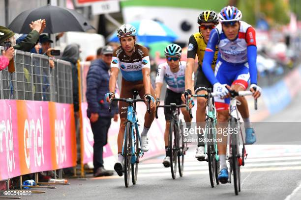 Arrival / Mickael Cherel of France and Team AG2R La Mondiale / during the 101st Tour of Italy 2018 Stage 15 a 176km stage from Tolmezzo to Sappada...