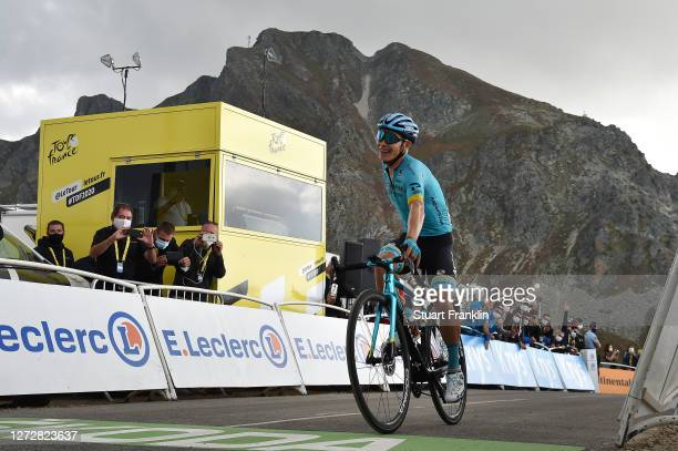 Arrival / Miguel Angel Lopez Moreno of Colombia and Astana Pro Team / Celebration / Col de la Loze / Public / Fans / during the 107th Tour de France...