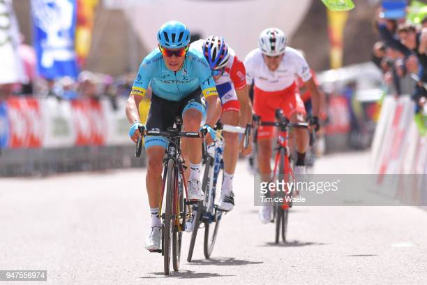 Arrival / Miguel Angel Lopez of Colombia and Astana Pro Team / Thibaut Pinot of France and Team Groupama FDJ / Ivan Ramiro Sosa of Colombia and Team...