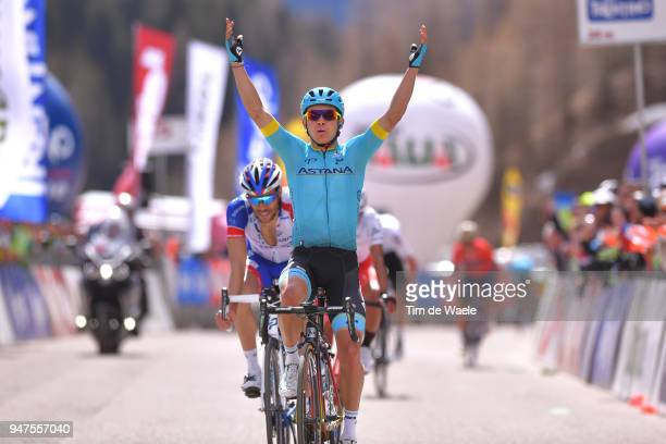 Arrival / Miguel Angel Lopez of Colombia and Astana Pro Team Celebration / Thibaut Pinot of France and Team Groupama FDJ / during the 42nd Tour of...