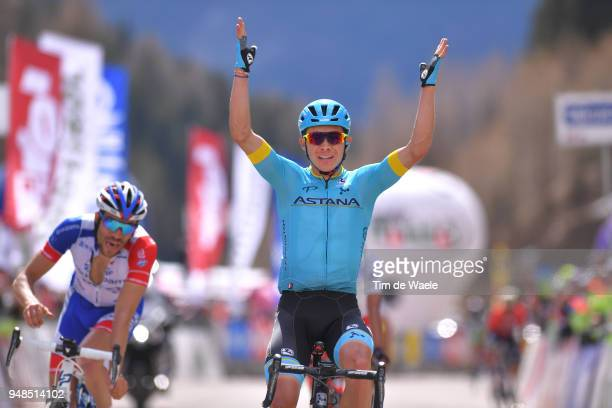 Arrival / Miguel Angel Lopez of Colombia and Astana Pro Team / Celebration / Thibaut Pinot of France and Team Groupama FDJ / during the 42nd Tour of...