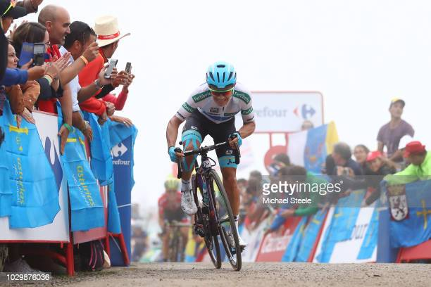 Arrival / Miguel Angel Lopez of Colombia and Astana Pro Team / White Combined Jersey / during the 73rd Tour of Spain 2018, Stage 15 a 178,2km stage...