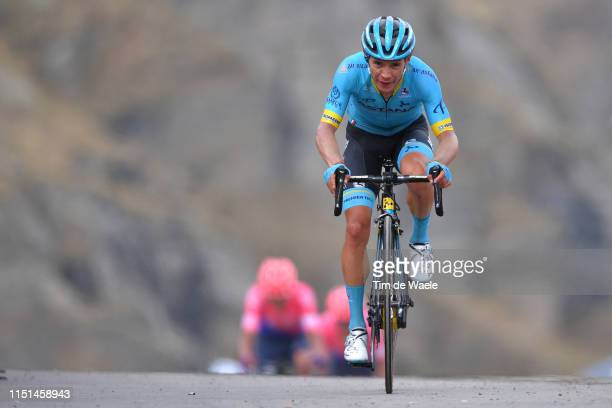 Arrival / Miguel Ángel López Moreno of Colombia and Astana Pro Team / during the 102nd Giro d'Italia 2019 Stage 13 a 196km stage from Pinerolo to...
