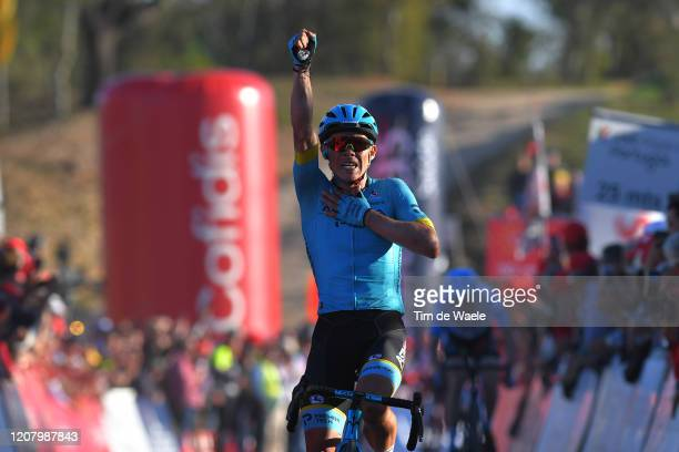 Arrival / Miguel Ángel López of Colombia and Team Astana Pro Team / Celebration / during the 46th Volta ao Algarve 2020, Stage 4 a 169,7km stage from...