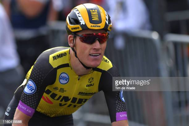 Arrival / Mike Teunissen of The Netherlands and Team Jumbo-Visma / during the 106th Tour de France 2019, Stage 1 a 194,5km stage from Brussels to...