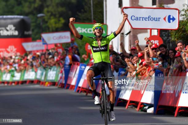 Arrival / Mikel Iturria Segurola of Spain and Team Euskadi Basque Country-Murias / Celebration / during the 74th Tour of Spain 2019, Stage 11 a 180km...