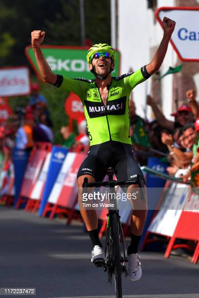 Arrival / Mikel Iturria Segurola of Spain and Team Euskadi Basque CountryMurias / Celebration / during the 74th Tour of Spain 2019 Stage 11 a 180km...