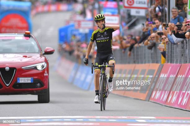 Arrival / Mikel Nieve Ituralde of Spain and Team Mitchelton-Scott / Celebration / during the 101st Tour of Italy 2018, Stage 20 a 214km stage from...