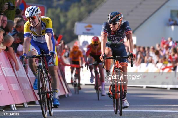 Arrival / Milan Menten of Belgium and Team Sport VlaanderenBaloise / Nicola Bagioli of Italy and NippoVini FantiniEuropa Ovini / during the 11th Tour...