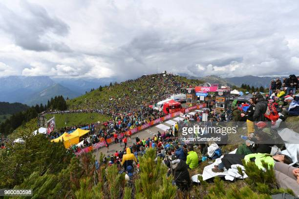 Arrival / Monte Zoncolan / Arrival Area / Fans / Public / Landscape / during the 101st Tour of Italy 2018, Stage 14 a 186km stage from San Vito Al...