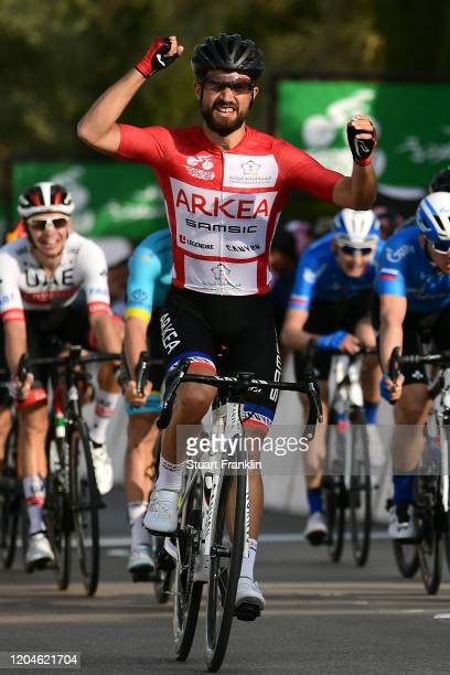 Arrival / Nacer Bouhanni of France and Team Arkea-Samsic Red Points Jersey / Celebration / during the 1st Saudi Tour 2020, Stage 4 a 137km stage from...