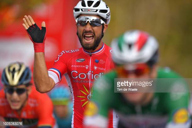 Arrival / Nacer Bouhanni of France and Team Cofidis / Celebration / during the 73rd Tour of Spain 2018, Stage 6 a 155,7km stage from Huercal-Overa to...