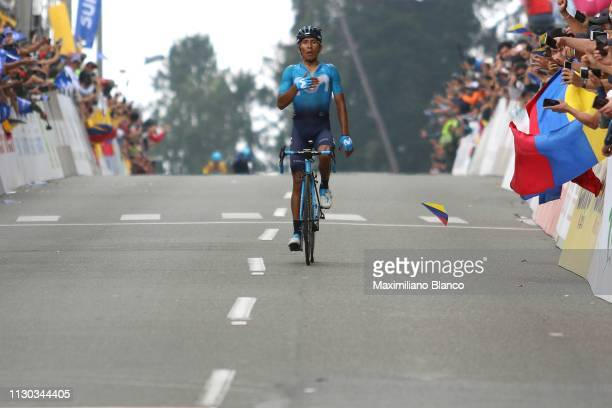 Arrival / Nairo Quintana of Colombia and Movistar Team / Celebration / during the 2nd Tour of Colombia 2019 Stage 6 a 1738km stage from El Retiro to...