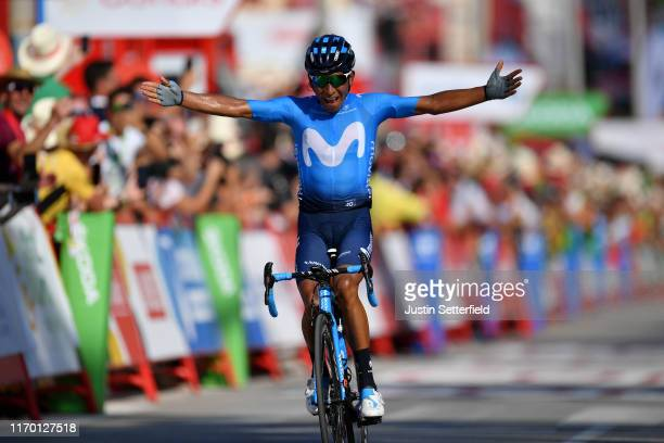 Arrival / Nairo Quintana of Colombia and Movistar Team / Celebration / during the 74th Tour of Spain 2019, Stage 2 a 199,6km stage from Benidorm to...
