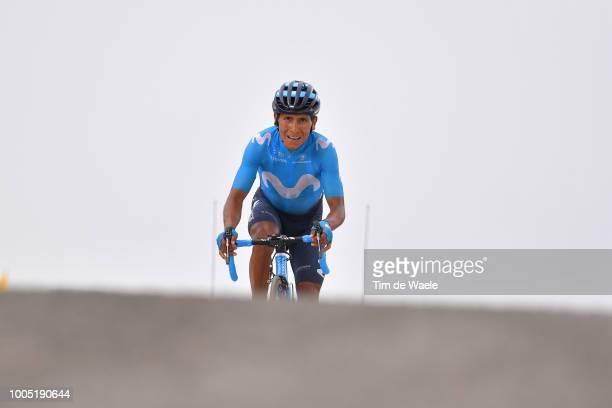 Arrival / Nairo Quintana of Colombia and Movistar Team / during the 105th Tour de France 2018, Stage 17, a 67km stage from Bagneres-de-Luchon to...