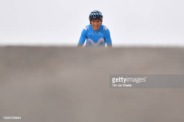 Arrival / Nairo Quintana of Colombia and Movistar Team during the 105th Tour de France 2018, Stage 17, a 67km stage from Bagneres-de-Luchon to...