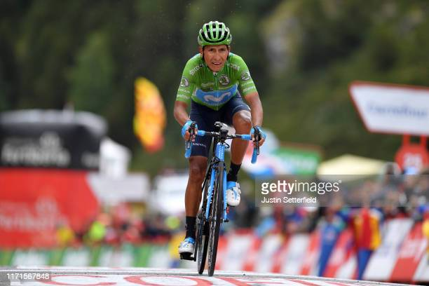 Arrival / Nairo Quintana of Colombia and Movistar Team Green Points Jersey / during the 74th Tour of Spain 2019, Stage 9 a 94,4km stage from Andorra...