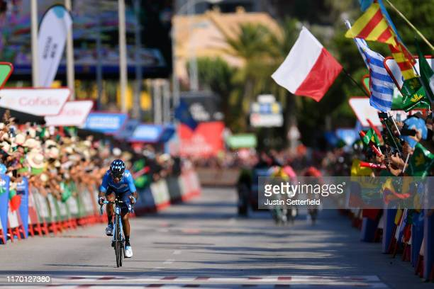 Arrival / Nairo Quintana of Colombia and Movistar Team / Public / Fans / Flag / during the 74th Tour of Spain 2019, Stage 2 a 199,6km stage from...