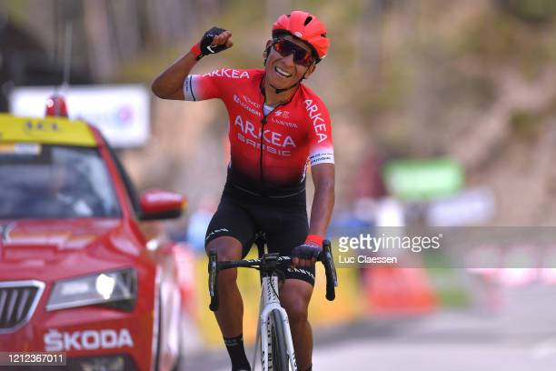 Arrival / Nairo Quintana of Colombia and Team Arkea - Samsic / Celebration / during the 78th Paris - Nice 2020 - Stage 7 a 166,5km stage from Nice to...