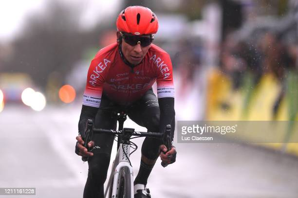 Arrival / Nairo Quintana of Colombia and Team Arkea - Samsic / during the 78th Paris - Nice 2020, Stage 1 a 154km stage from Plaisir to Plaisir /...