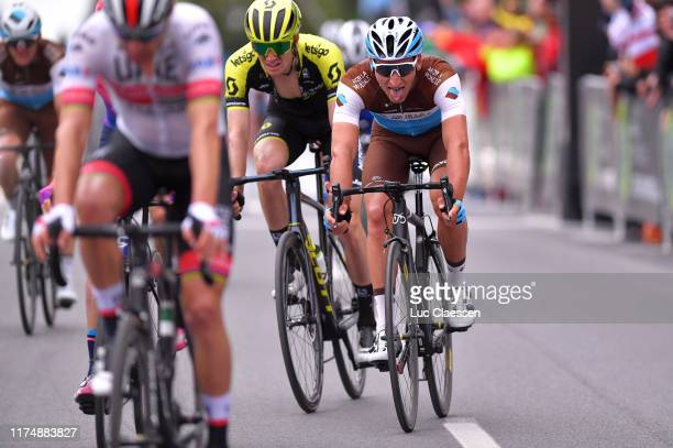 Arrival / Nans Peters of France and Team AG2R La Mondiale / during the 10th Grand Prix Cycliste de Montreal 2019 a 219,6km race from Montreal to...