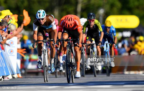 Arrival / Nans Peters of France and Team Ag2R La Mondiale / Simon Geschke of Germany and CCC Team / during the 107th Tour de France 2020, Stage 18 a...