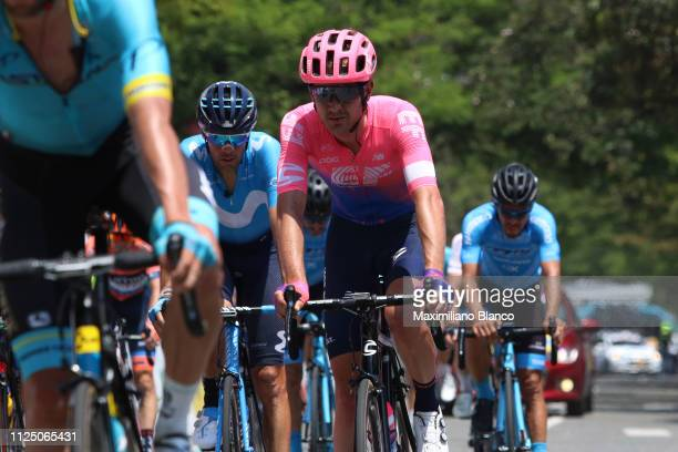 Arrival / Nathan Brown of The United States and EF Education First Pro Cycling Team / during the 2nd Tour of Colombia 2019 Stage 4 a 1444km race from...