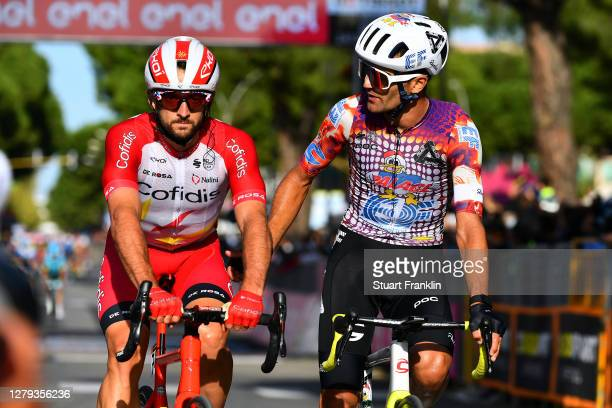 Arrival / Nathan Haas of Australia and Team Cofidis Solutions Credits / Ruben Guerreiro of Portugal and Team EF Pro Cycling / during the 103rd Giro...