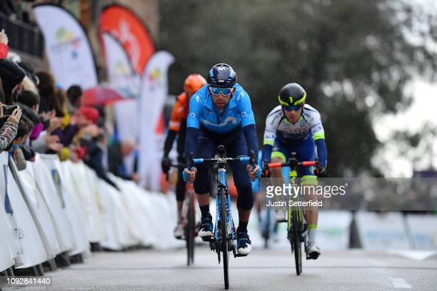 Arrival / Nelson Oliveira of Portugal and Movistar Team / during the 28th Mallorca Challenge 2019 - Trofeo Serra de Tramuntana, a 179,3km race from...