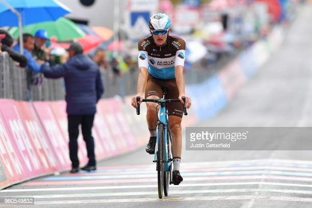 Arrival / Nico Denz of Germany and Team AG2R La Mondiale / during the 101st Tour of Italy 2018 Stage 15 a 176km stage from Tolmezzo to Sappada 1240m...