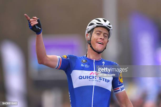 Arrival / Niki Terpstra of The Netherlands and Team Quick-Step Floors / Celebration / during the 102nd Tour of Flanders 2018 - Ronde Van Vlaanderen a...