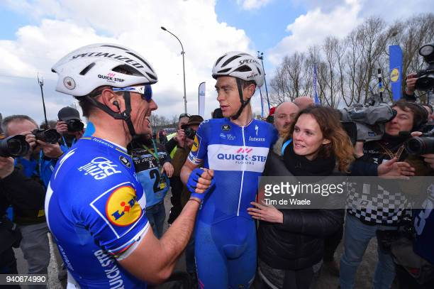 Arrival / Niki Terpstra of The Netherlands and Team Quick-Step Floors / Ramona Van der Lecq of The Netherlands Wife / Philippe Gilbert of Belgium and...