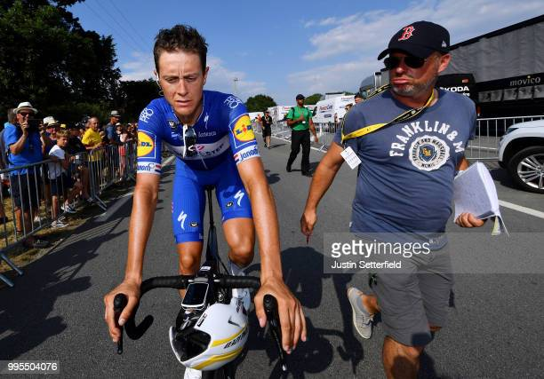 Arrival / Niki Terpstra of The Netherlands and Team Quick-Step Floors / during the 105th Tour de France 2018, Stage 4 a 195km stage from La Baule to...