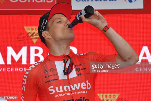Arrival / Nikias Arndt of Germany and Team Sunweb / Celebration / Champagne / Beer / during the 74th Tour of Spain 2019, Stage 8 a 166,9km stage from...