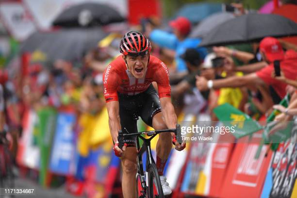 Arrival / Nikias Arndt of Germany and Team Sunweb / Celebration / during the 74th Tour of Spain 2019, Stage 8 a 166,9km stage from Valls to Igualada...