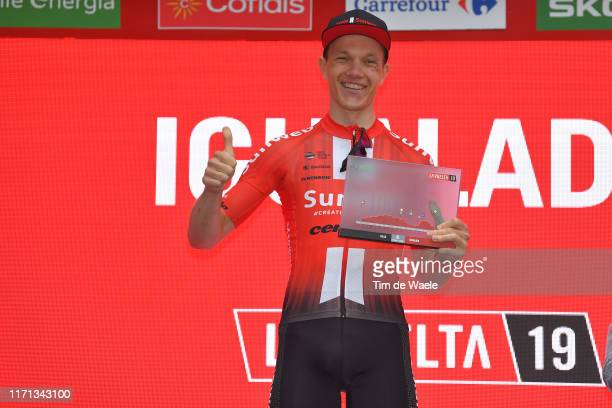 Arrival / Nikias Arndt of Germany and Team Sunweb / Celebration / Trophy / during the 74th Tour of Spain 2019, Stage 8 a 166,9km stage from Valls to...