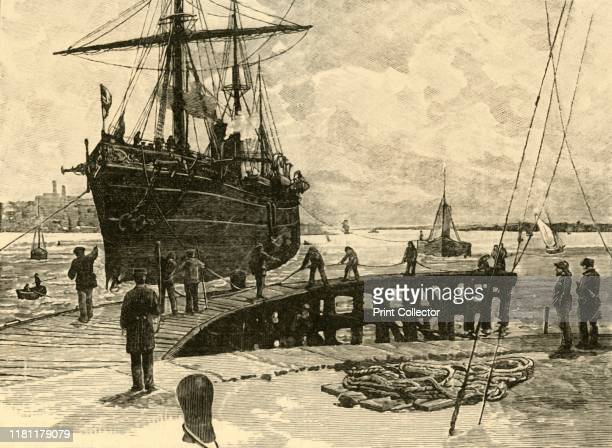Arrival of a Steamer at Southampton Docks' 1898 The Southampton Docks company was formed in 1835 the first dock opened in 1842 and became known as...