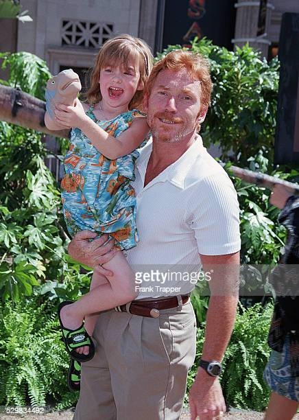 Arrival of actor Danny Donaduce with his daughter Isabella